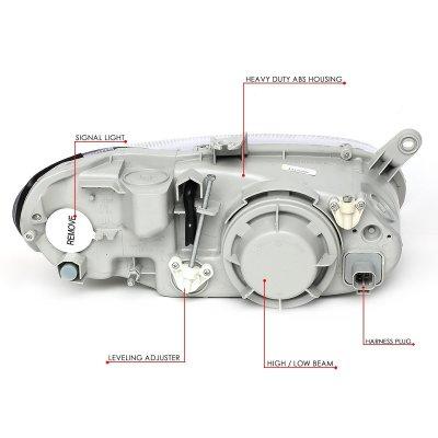 Kia Sephia 1998-2001 Headlights
