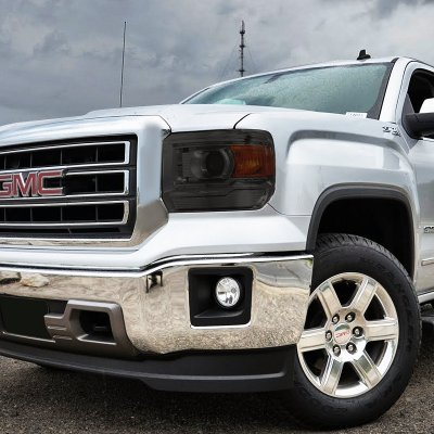 Gmc Sierra 3500 2017 Smoked Projector Headlights