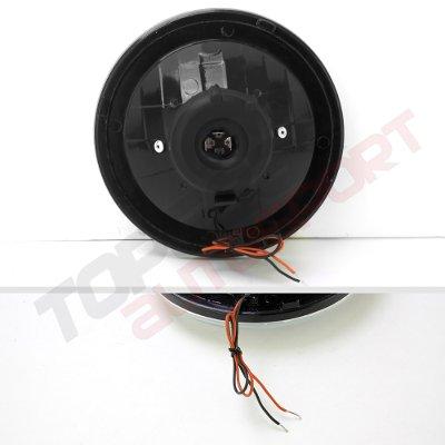 Chevy Blazer 1969-1979 Black Red Halo Tube Sealed Beam Headlight Conversion