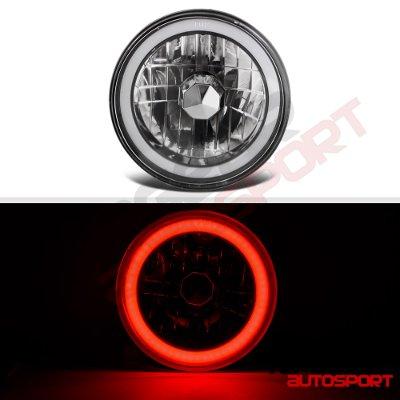 Land Rover Range Rover 1987-1994 Black Red Halo Tube Sealed Beam Headlight Conversion