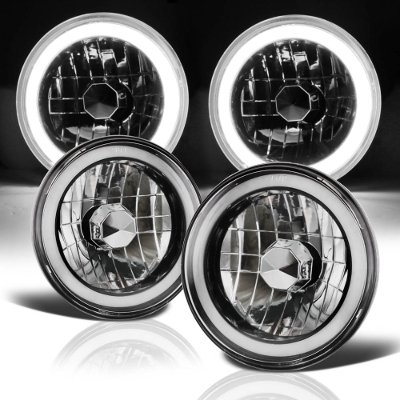 1978 GMC Vandura Black Halo Tube Sealed Beam Headlight Conversion