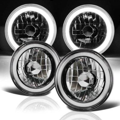 Land Rover Range Rover 1987-1994 Black Halo Tube Sealed Beam Headlight Conversion