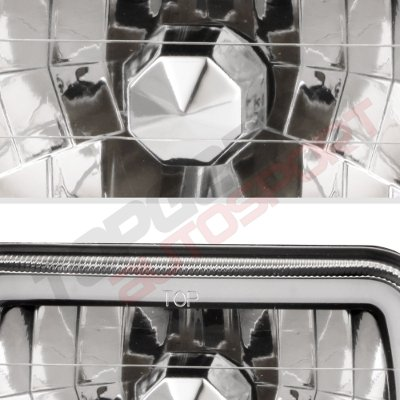 1993 Chevy Astro Black Blue Halo Tube Sealed Beam Headlight Conversion