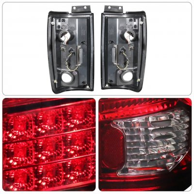 Ford Expedition 1997-2002 Tinted LED Tail Lights