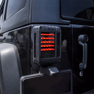 Jeep Wrangler JK 2007-2017 Smoked LED Tail Lights