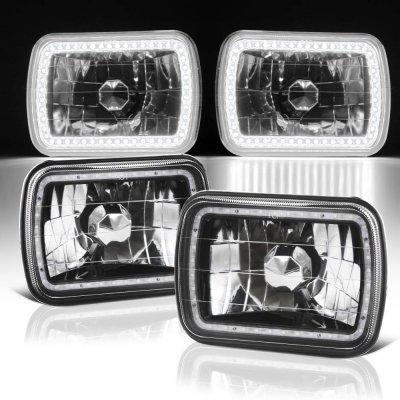 Jeep Wrangler YJ 1987-1995 Black SMD LED Sealed Beam Headlight Conversion