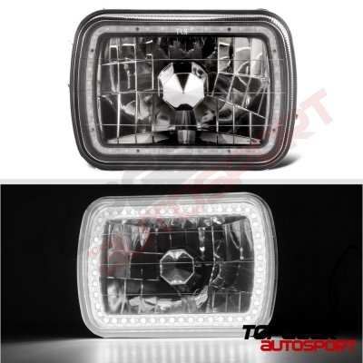 Dodge Ram 250 1981-1993 Black SMD LED Sealed Beam Headlight Conversion