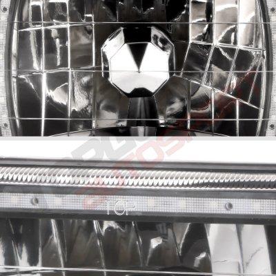 Dodge Ram 350 1981-1993 Black SMD LED Sealed Beam Headlight Conversion