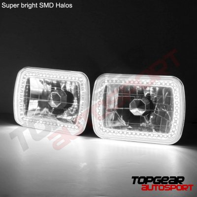 GMC Savana 1996-2004 Black SMD LED Sealed Beam Headlight Conversion