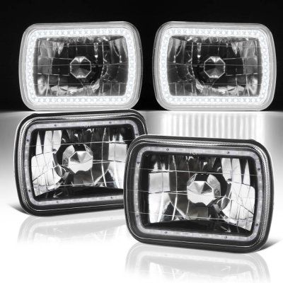 GMC Sierra 1988-1998 Black SMD LED Sealed Beam Headlight Conversion