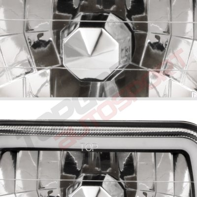 Chevy Blazer 1980-1994 Black Green Halo Tube Sealed Beam Headlight Conversion