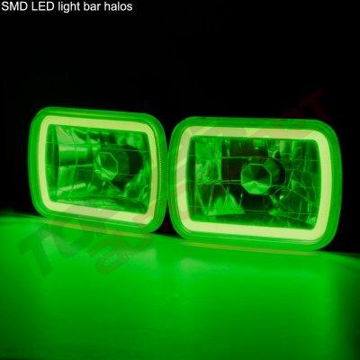 GMC Sierra 1988-1998 Black Green Halo Tube Sealed Beam Headlight Conversion