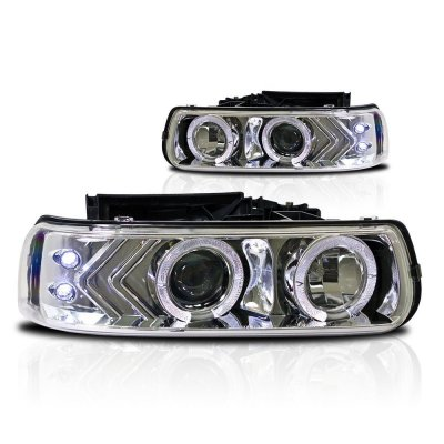 Chevy Silverado 1999-2002 Halo Projector Headlights LED