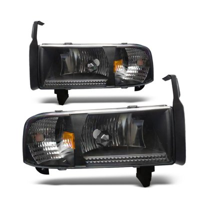 Dodge Ram 1994-2001 Black Headlights 1PC Conversion