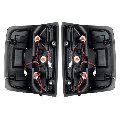 Chevy Silverado 2014-2018 Black LED Tail Lights