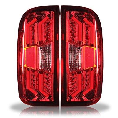 Chevy Silverado 2014-2018 Red LED Tail Lights
