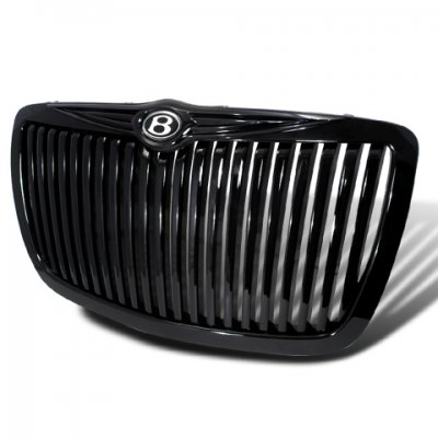 Chrysler 300 2005-2010 Black Vertical Grille with B Emblem