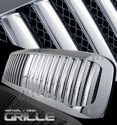 Ford F350 Super Duty 1999-2004 Chrome Mesh Vertical Grille