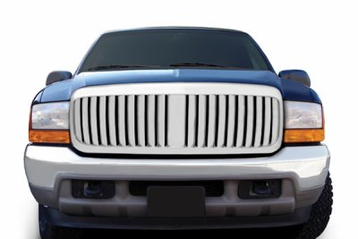 Ford F250 Super Duty 1999-2004 Chrome Vertical Grille