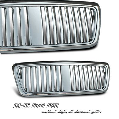 Ford F150 2004-2008 Chrome Vertical Bar Grille