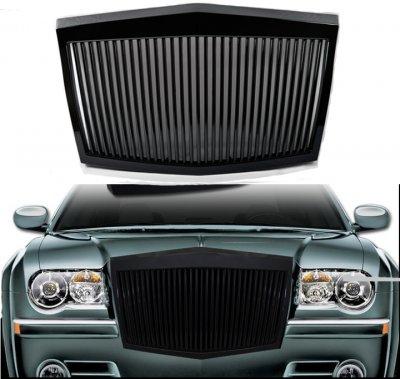 Chrysler 300 2005-2010 Black Phantom Style Vertical Grille