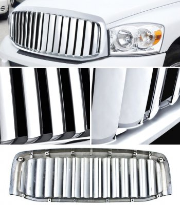 Dodge Ram 2006-2008 Chrome Wide Vertical Bar Grille