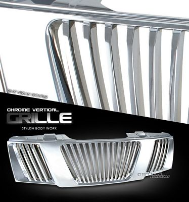 Nissan Frontier 2005-2007 Chrome Vertical Grille