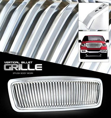 Ford F150 2004-2008 Chrome Vertical Billet Grille