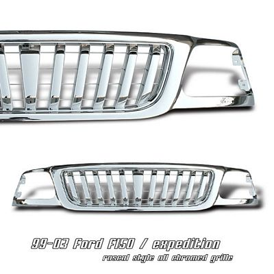 Ford Expedition 1999-2002 Chrome Vertical Grille