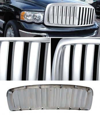 Dodge Ram 2002-2005 Chrome Vertical Bar Grille