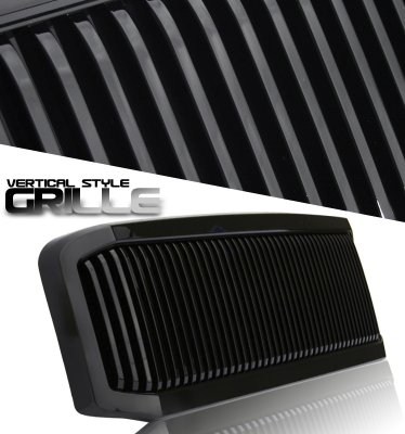 Ford F350 Super Duty 2005-2007 Black Vertical Grille