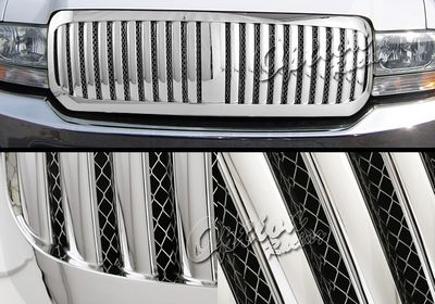 Ford F250 Super Duty 1999-2004 Chrome Mesh Vertical Grille