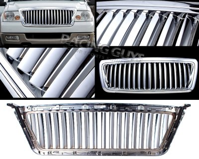 Ford F150 2004-2008 Chrome 18 Bars Vertical Grille