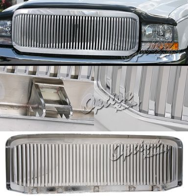 Ford F350 Super Duty 2005-2007 Chrome Vertical Grille