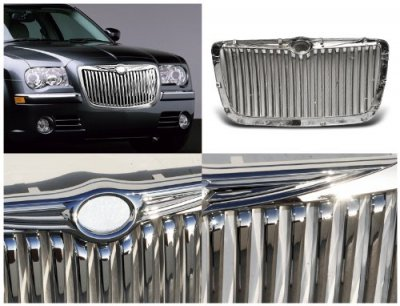 Chrysler 300 2005-2010 Chrome Vertical Grille
