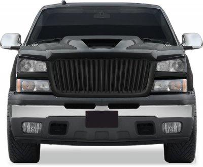 Chevy Silverado 2003-2005 Black Vertical Bar Grille