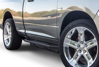Dodge Ram Regular Cab 2009-2017 iArmor Side Step Running Boards Black Aluminum