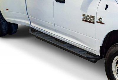 Dodge Ram Crew Cab 2009-2017 iArmor Side Step Running Boards Black Aluminum