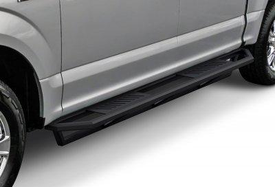 ford f250 super duty crew cab 2017 2018 side armor step running boards black aluminum. Black Bedroom Furniture Sets. Home Design Ideas