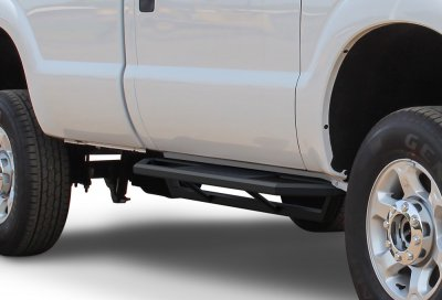 Ford F350 Super Duty Regular Cab 1999-2007 iArmor Side Step Running Boards Black Aluminum