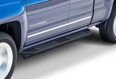 Chevy Silverado 2500HD Double Cab 2015-2017 iArmor Side Step Running Boards Black Aluminum
