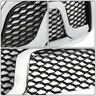 Dodge Ram 1500 2013 2018 Chrome Mesh Grille