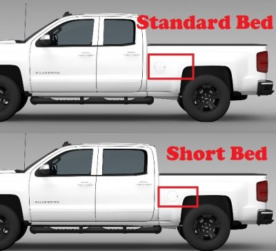 Chevy Silverado 2500HD 2007-2014 Short Bed Fender Flares Pocket Rivet