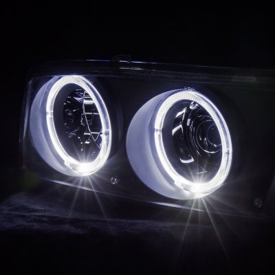 GMC Sierra 1999-2006 Black Projector Headlights