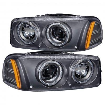 GMC Yukon 1999-2006 Black Projector Headlights