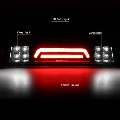 Dodge Ram 2009-2018 Black Smoked Tube LED Third Brake Light