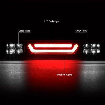 Chevy Silverado 2500HD 2007-2014 Black Smoked Tube LED Third Brake Light