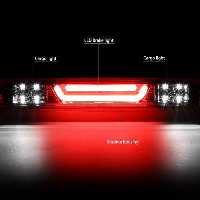 Chevy Silverado 2500HD 2007-2014 Clear Tube LED Third Brake Light
