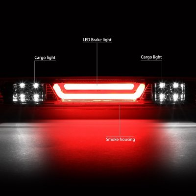Chevy Silverado 2007-2013 Smoked Tube LED Third Brake Light