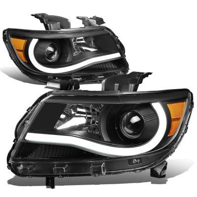 Chevy Colorado 2015 2018 Black Projector Headlights Tube